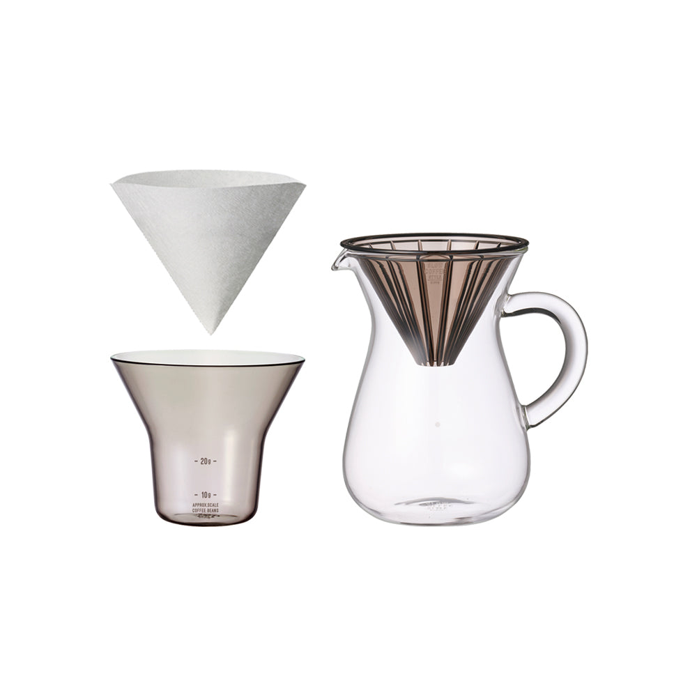 KINTO SCS-02-CC-PL COFFEE CARAFE SET 300ML PLASTIC  GRAY-NO-COLOR
