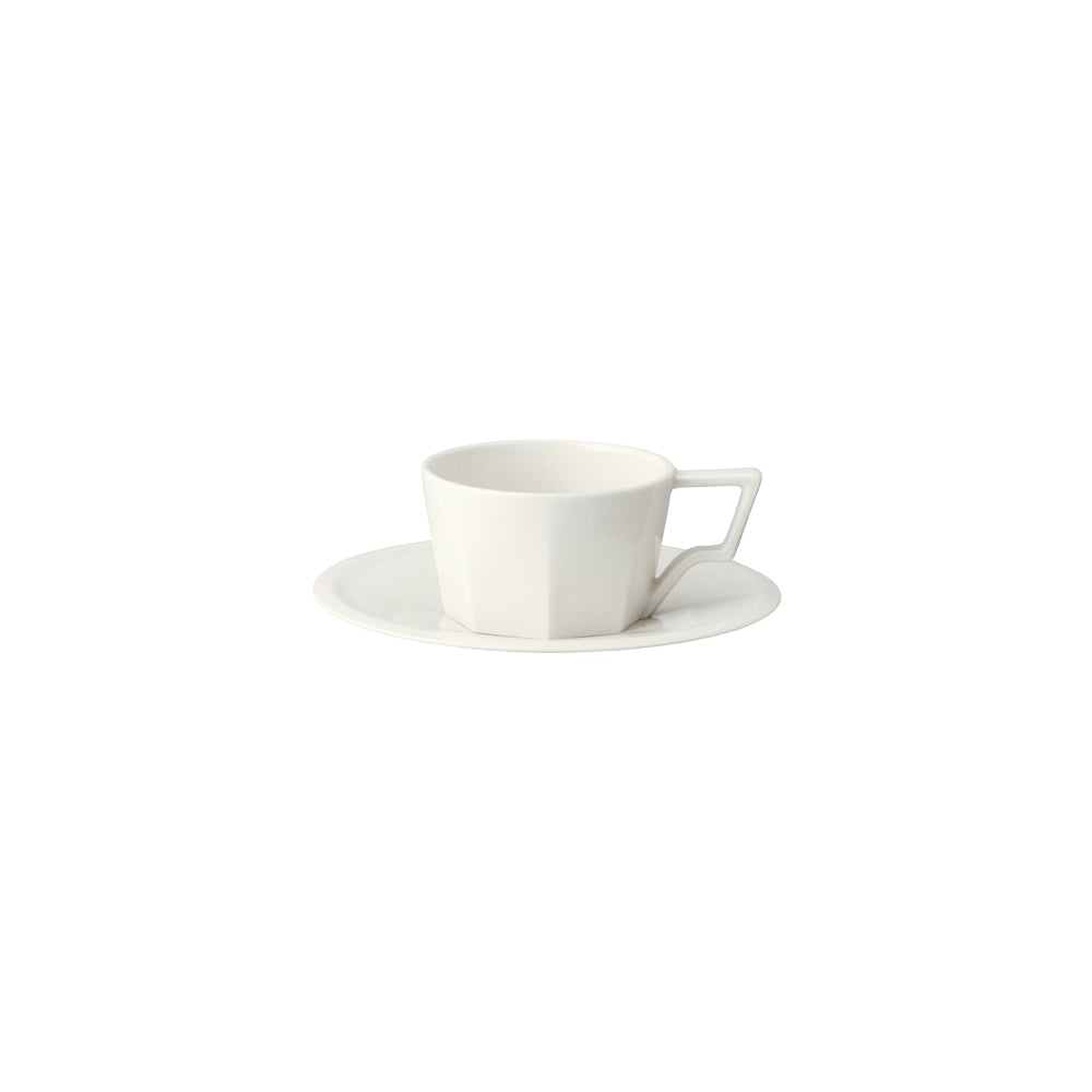 KINTO OCT CUP & SAUCER 80ML  WHITE