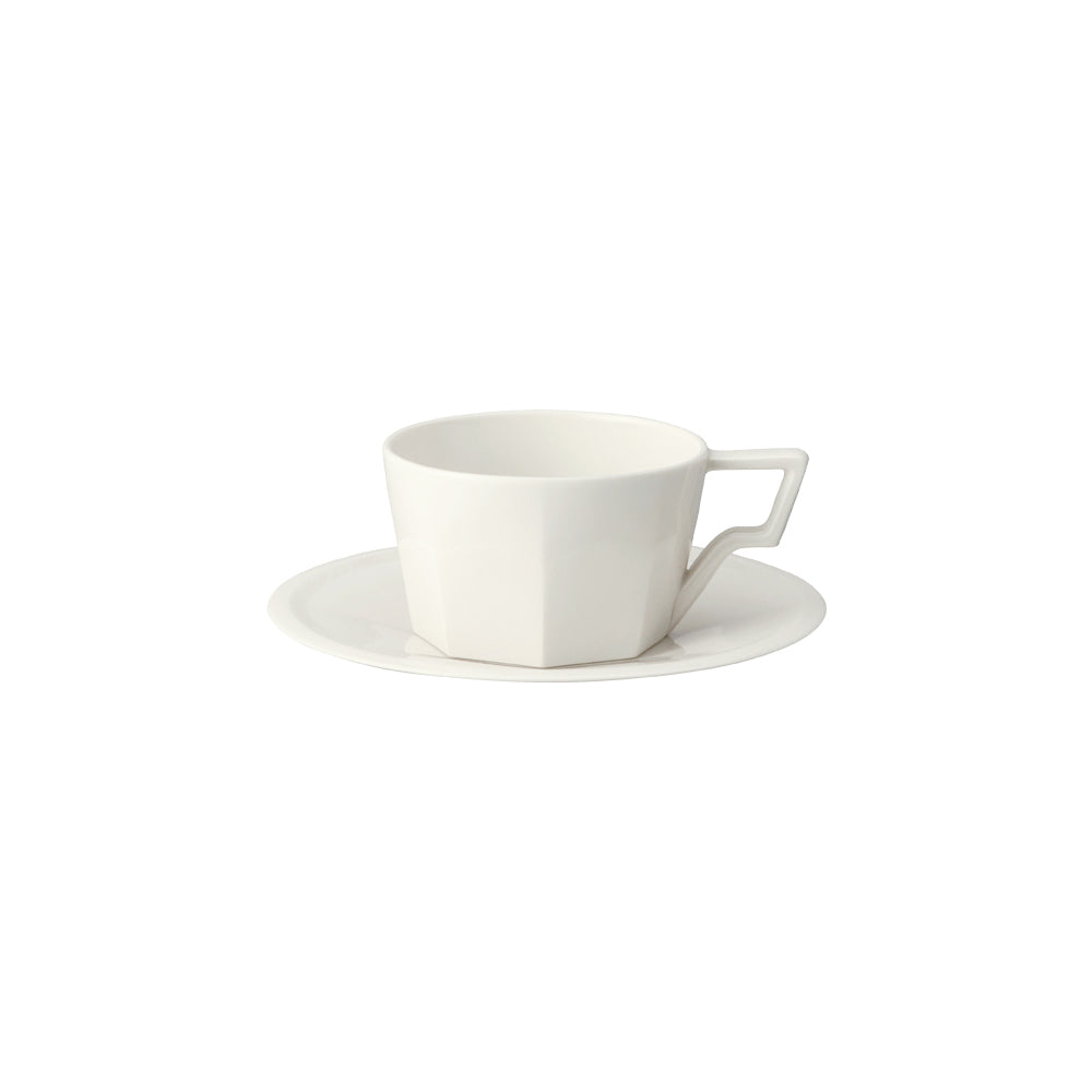 KINTO OCT CUP & SAUCER 220ML  WHITE