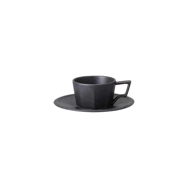 KINTO OCT CUP & SAUCER 80ML BLACK