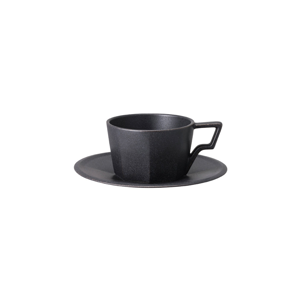 KINTO OCT CUP & SAUCER 220ML  BLACK