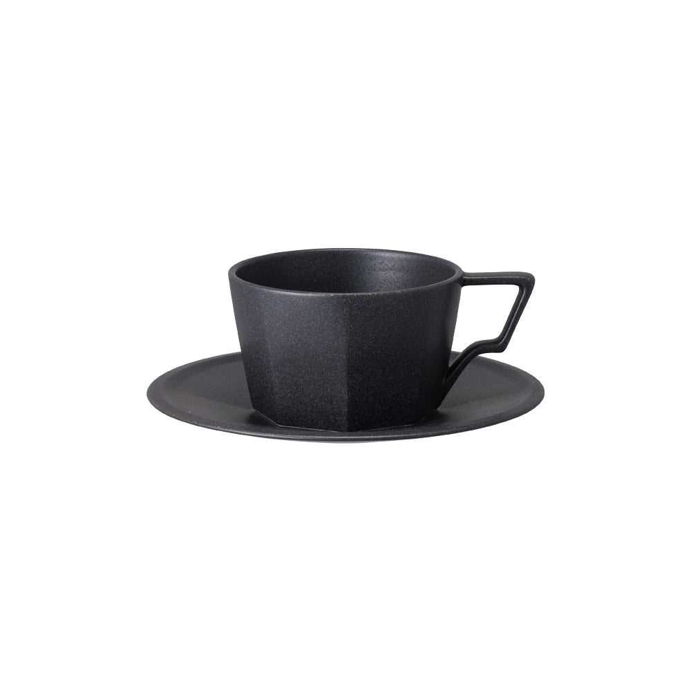 KINTO OCT CUP & SAUCER 300ML  BLACK