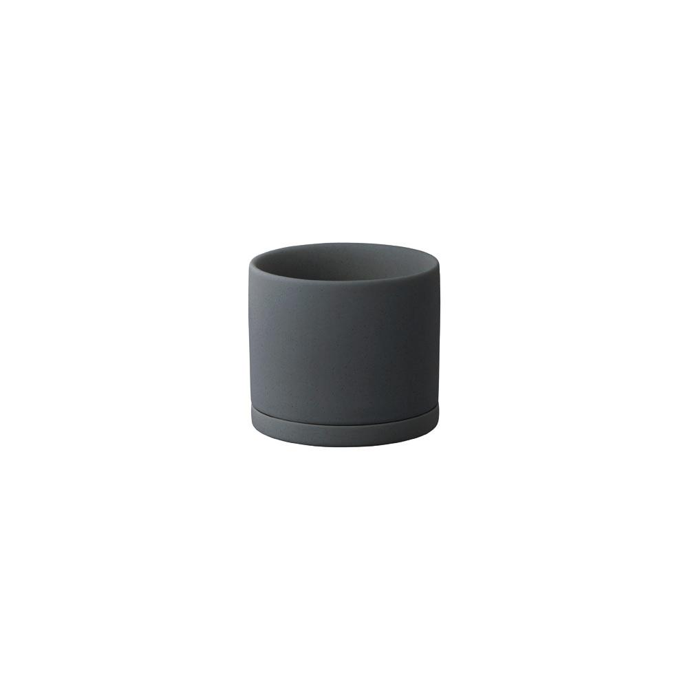 KINTO PLANT POT 191_ 85MM  DARK GRAY