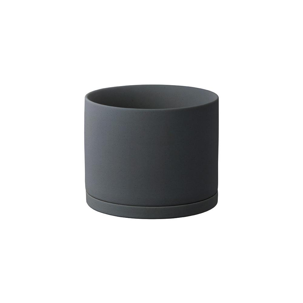 KINTO PLANT POT 191_ 135MM  DARK GRAY