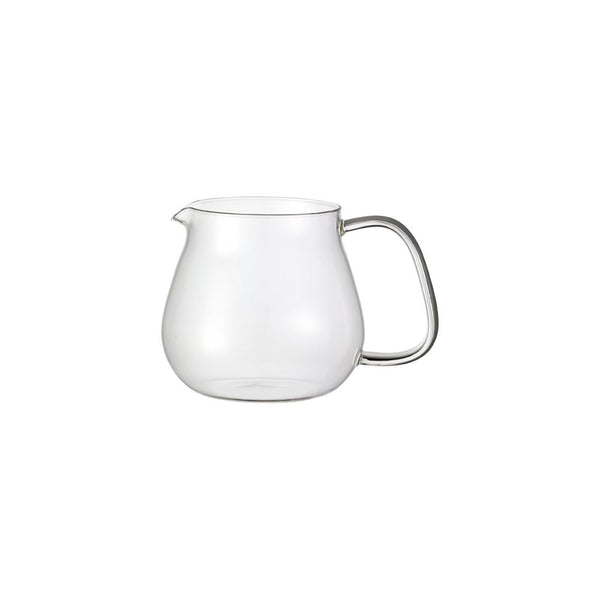 KINTO UNITEA ONE TOUCH TEAPOT GLASS JUG 460ML CLEAR
