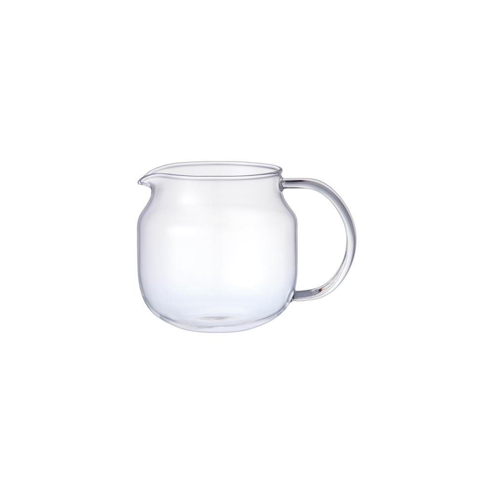 KINTO ONE TOUCH TEAPOT GLASS JUG 450ML  CLEAR