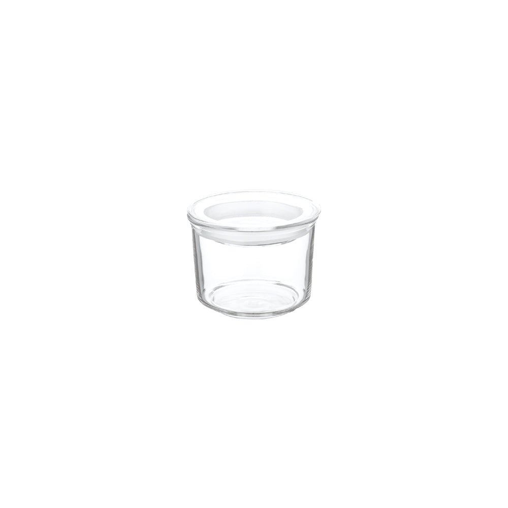 KINTO CAST Φ80 GLASS LID CANISTER SHORT  CLEAR