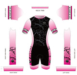 Stand Proud Be Loud Short Sleeved Aero Tri Suit Pink Ombre - KAWtri Boutique