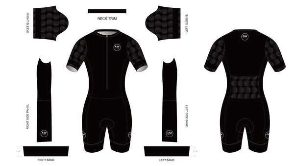 BOLD BLACK 2021 - Short Sleeved Tri Suit