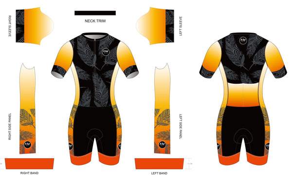 FIRE FEATHER 2021 - Short Sleeved Tri Suit
