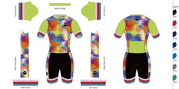 TROPICAL DAYS 2021 - Short Sleeved Tri Suit