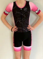 Stand Proud Be Loud Short Sleeved Aero Tri Suit Pink Ombre
