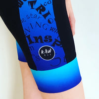 Stand Proud Be Loud Short Sleeved Aero Tri Suit - Blue Ombre