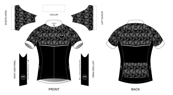 Cycling Jersey - Black and White with a Twist - KAWtri Boutique