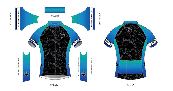 Cycling Jersey - Stand Proud Be Loud Blue/Green - KAWtri Boutique