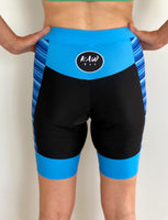 Tri Shorts - Blue Stripes - KAWtri Boutique