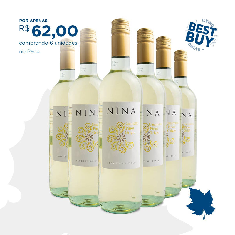 Pack com 6 Nina Catarratto Pinot Grigio IGT 2019 750ml