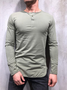 Long Sleeve T-Shirt Button-Up 4081