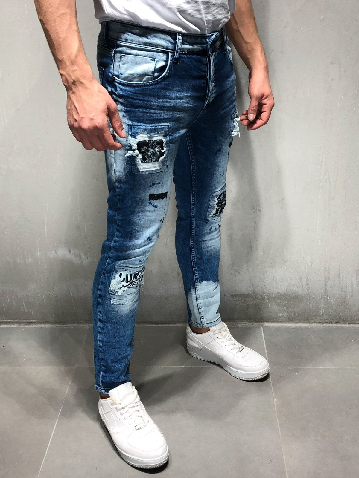 Bleach Wash Jeans Stonewashed 4226