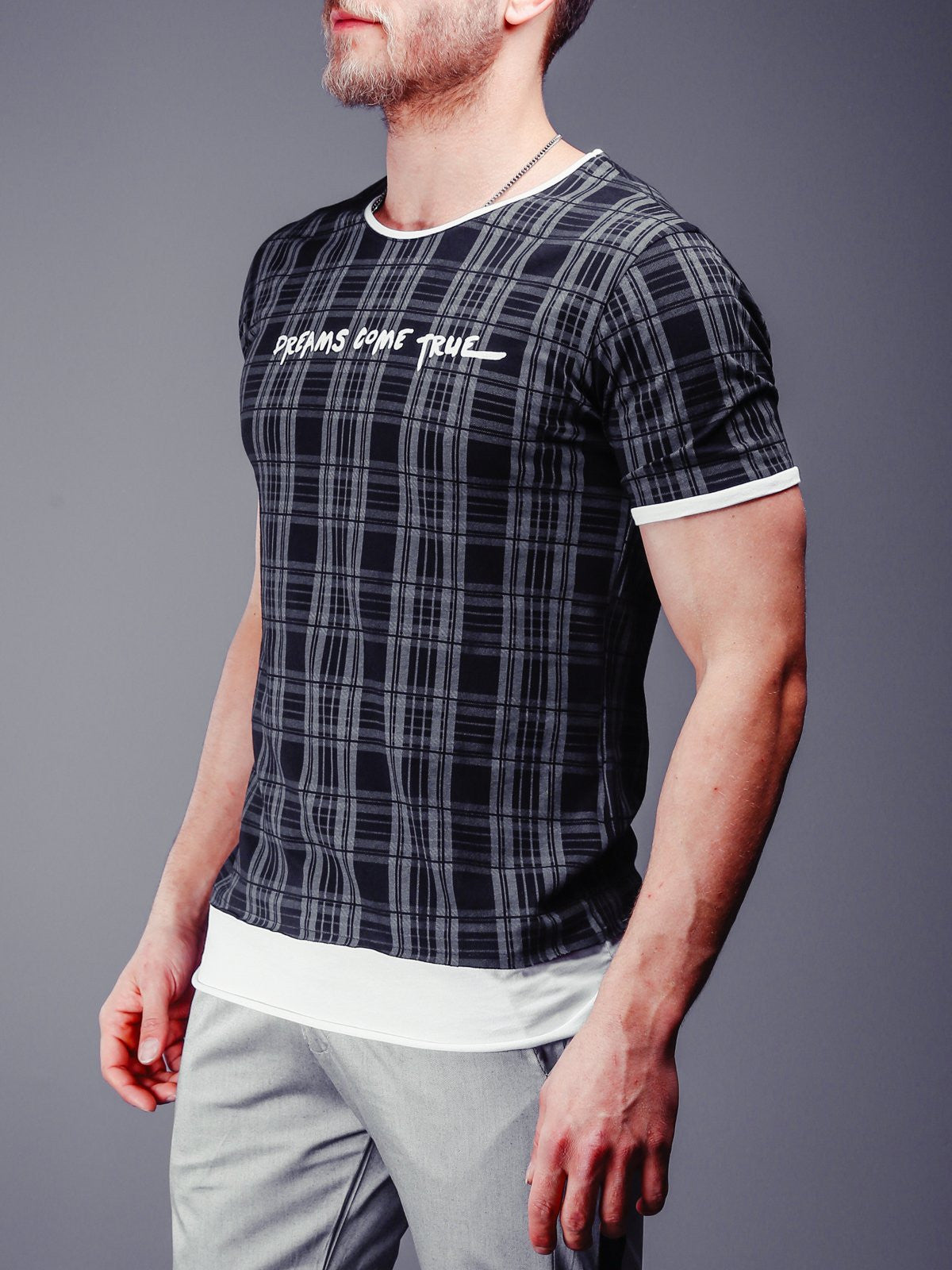 Checkered T-Shirt Extended 4305