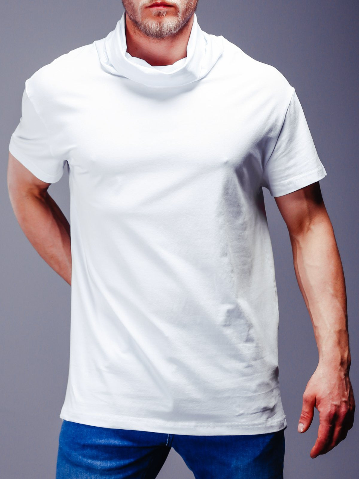 Super Longline T-Shirt Turtleneck 4346