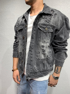 Distressed Denim Jacket 4463