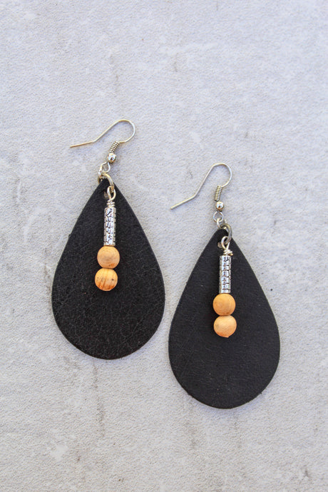 Palo Santo Silver Drop Earrings
