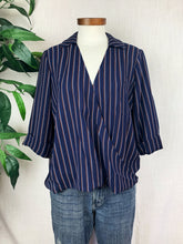 Load image into Gallery viewer, Navy Wrap Shirt