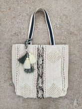 Load image into Gallery viewer, Ivory Boho Carpet Tote