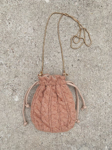 Cable Knit Hobo Bag