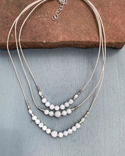Load image into Gallery viewer, Howlite Moon Necklace