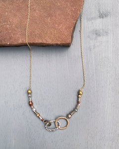 Mixed Metal Links Necklace