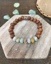 Load image into Gallery viewer, Amazonite Bar Bracelet