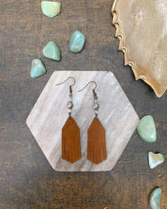 Waters Leather Fringe Earrings