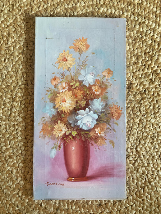 Vintage Peaches & Cream Painting
