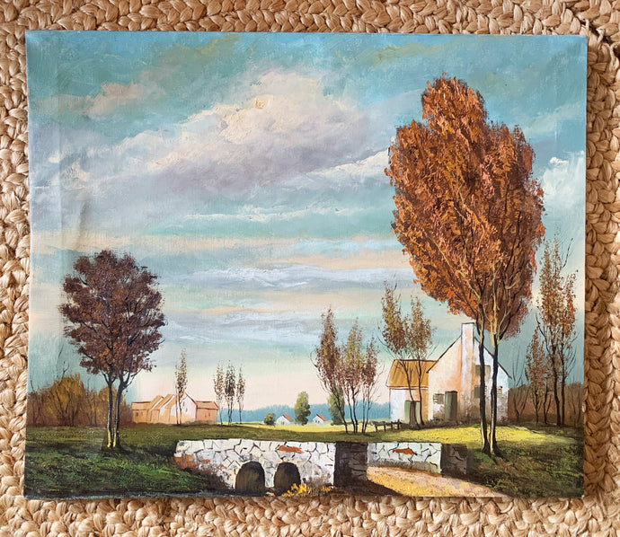 Vintage Homestead Painting