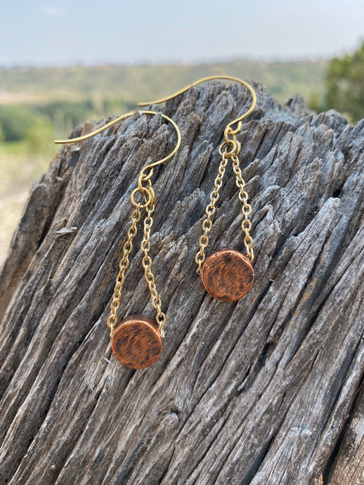 Simple Disc Drop Earrings
