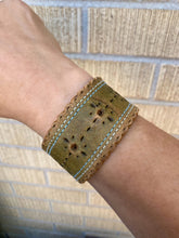 Load image into Gallery viewer, Green Scalloped Cuff