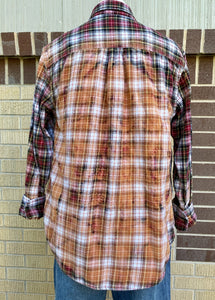 Vintage Red Sunbleached Flannel #1