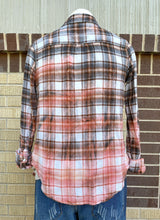 Load image into Gallery viewer, Vintage Peach Sunbleached Flannel #1