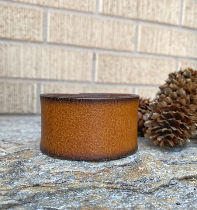 Tobacco Leather Cuff