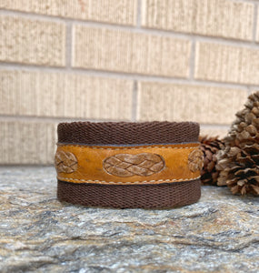 Leather Braid Woven Cuff