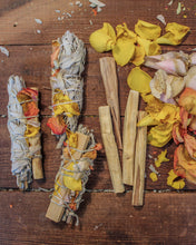 Load image into Gallery viewer, Floral Sage Smudge Stick