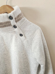 Fleece Button Neck Pullover