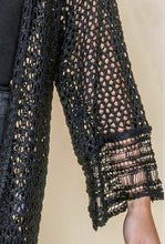 Load image into Gallery viewer, Open Weave Crochet Cardigan