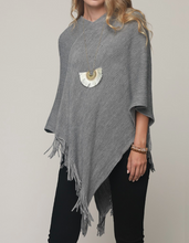 Load image into Gallery viewer, Stripe Knit Poncho