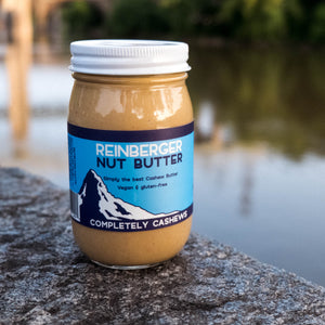 Completely Cashews all natural cashew butter from Reinberger Nut Butter.