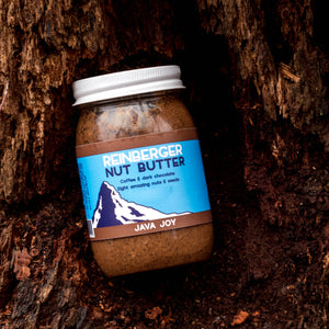 Java Joy all natural nut butter made with coffee and cocoa from Reinberger Nut Butter.
