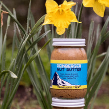 Load image into Gallery viewer, Traveler's Treat all natural nut butter with raisin, banana, and coconut from Reinberger Nut Butter.