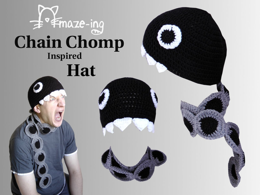 Chain Chomp-Inspired with Scarf Hat